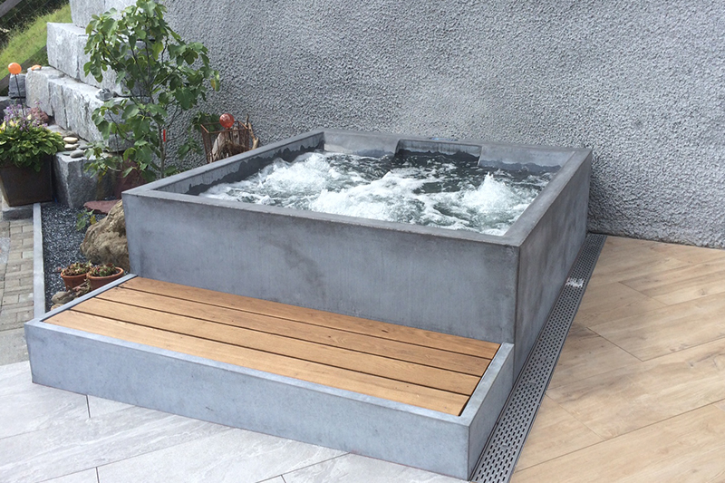 dade design beton whirlpool concrete jacuzzi. Black Bedroom Furniture Sets. Home Design Ideas