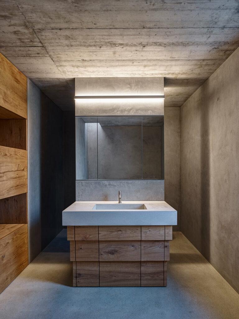 dade design BE Architekten Design cemento nel bagno Lavabo in cemento Lavandino in cemento