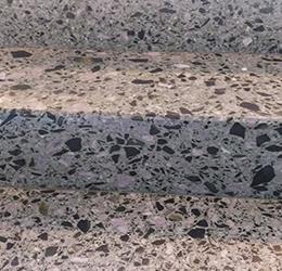 Terrazzo mit Valser Stein