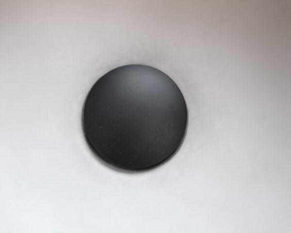 Ablaufventil schwarz für Betonwaschbecken