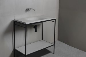 Concrete Vanity Unit LAURA 90 WAVE