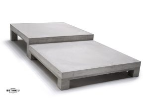 Concrete coffee table PLATT (Z)