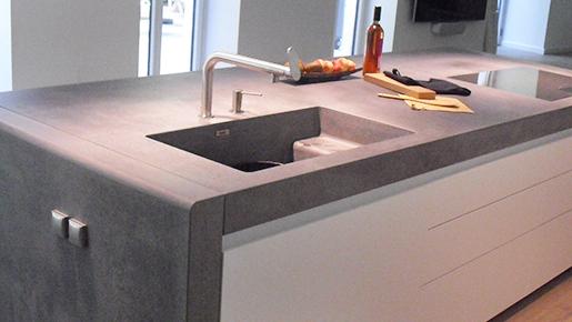 Piano Di Lavoro Cucina In Cemento.Con Il Cemento Si Puo Dade Design Opere Concrete