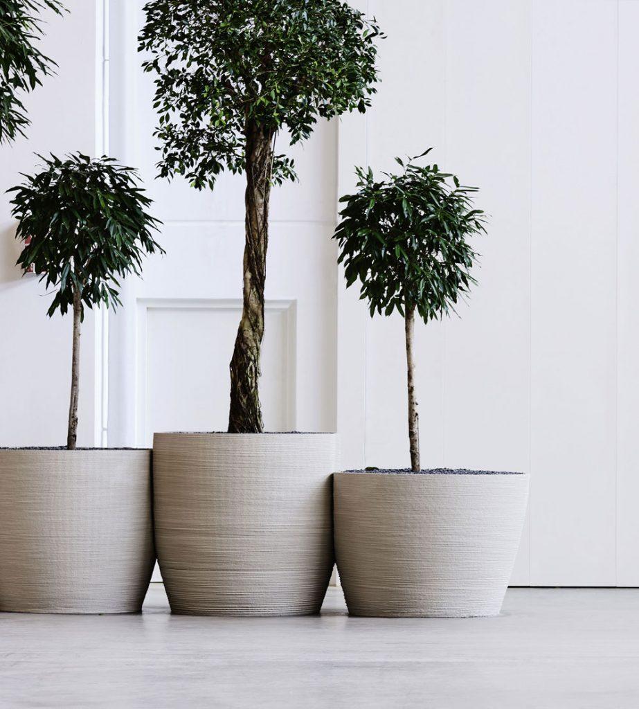 Betontopf Pflanzen 3D gedruckt MYPOT – dade design