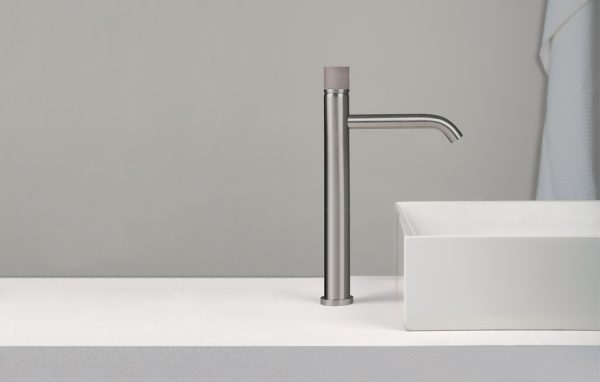 Concrete washbasin furniture tap