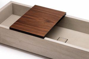 Aufsatzbrett für Beton Waschbecken