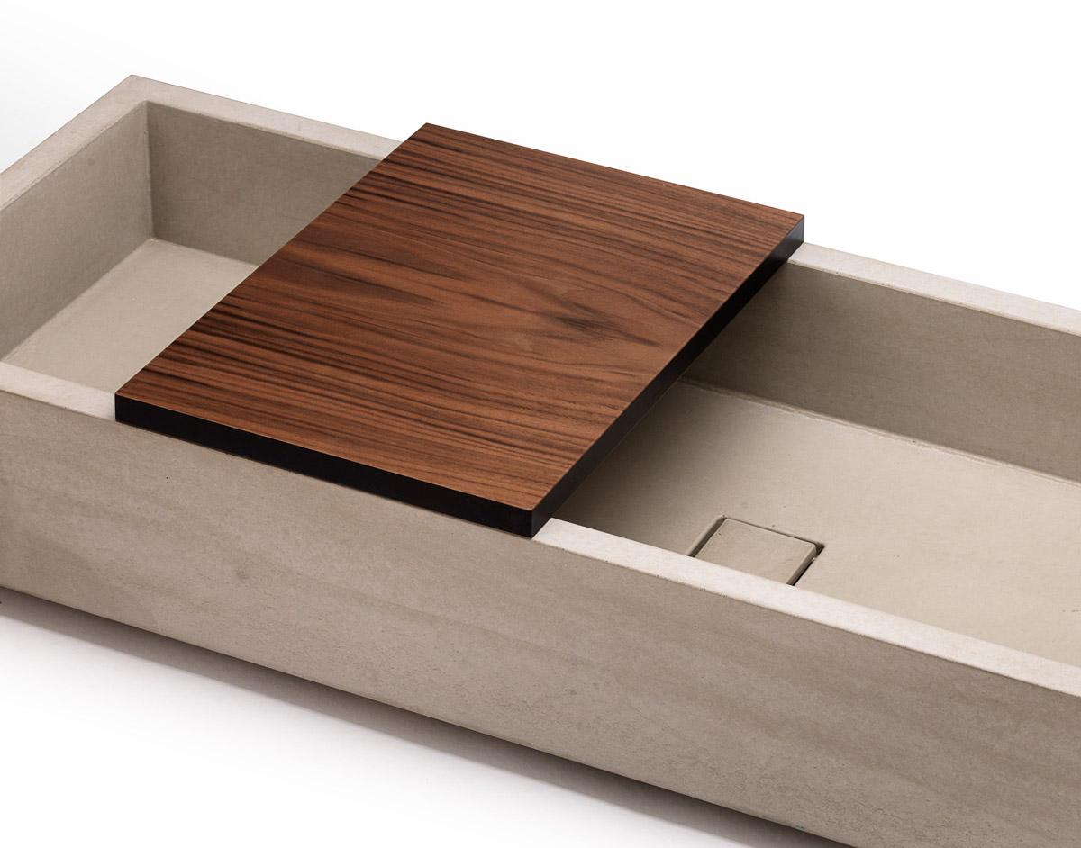Tavola di copertura per lavabo in cemento