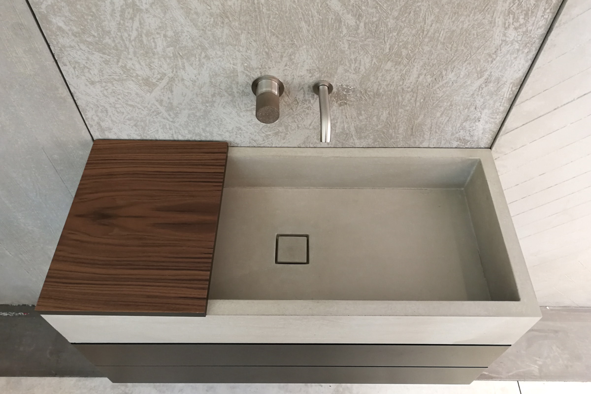 Mobile Da Bagno Design.Mobile Da Bagno Cemento Elina 120