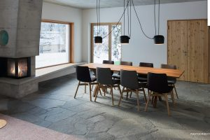Concrete fireplaces & stoves – dade design lights up the fireplace