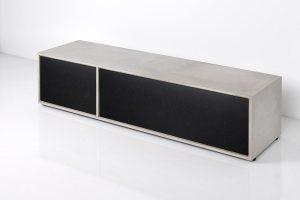 Concrete LOWBOARD MDF black / concrete
