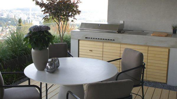 Betonküche Garten - dade design