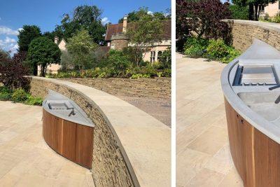 Beton Aussenküche by dade design, Wimbledon London