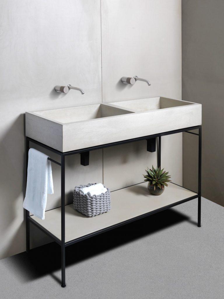 dade PANEL PURE Betonoptik im Bad Betonwaschtisch dade LAURA Badezimmer – dade design