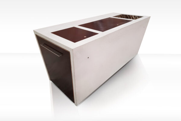 Aussenküche THE CONCRETE- Outdoorküche Betonküche Beton Holz | dade design