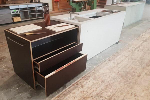 Aussenküche THE CONCRETE Outdoorküche Betonküche Beton Holz | dade design