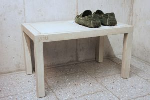 Concrete Shoe RACK for 2 shoe rack