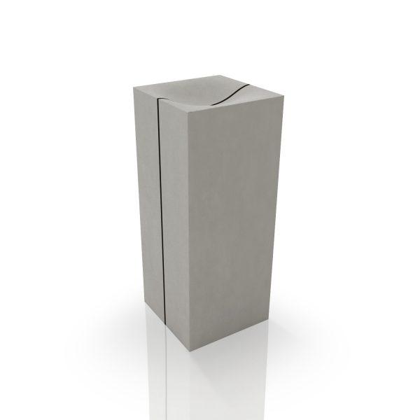 Lavabo in cemento a colonna - dade design