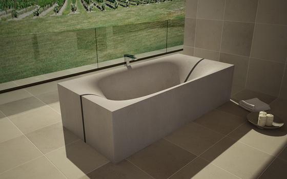 Vasca Da Bagno In Cemento : Dade wave cubed betonküchen und betonwaschbecken von dade design