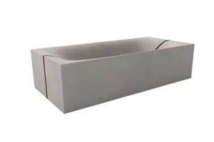 Concrete Bathtub WAVE CUBED