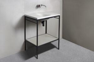 Mobile da bagno cemento dade LAURA 60 WAVE per lavabo in cemento WAVE 60