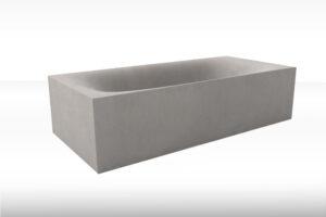 Concrete Bathtub WAVE CUBED