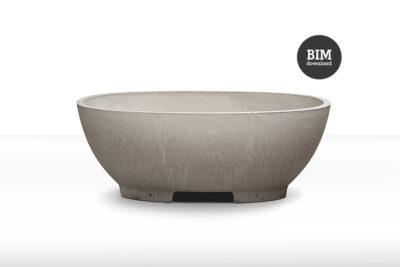 Betonbadewannen dade O concrete cemento inkl. BIM Download – dade design
