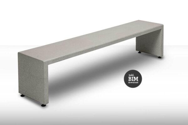 Betonbank ELIAS concrete cemento BIM – dade design
