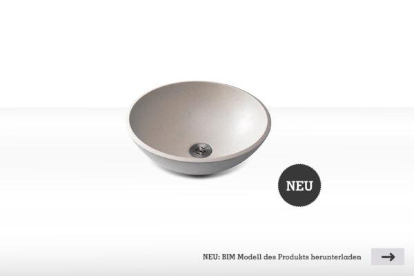 Betonwaschbecken ELARA klein BIM download | dade design