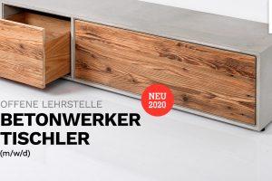 Offene Lehrstelle: Betonwerker & Tischler (m/w/d)