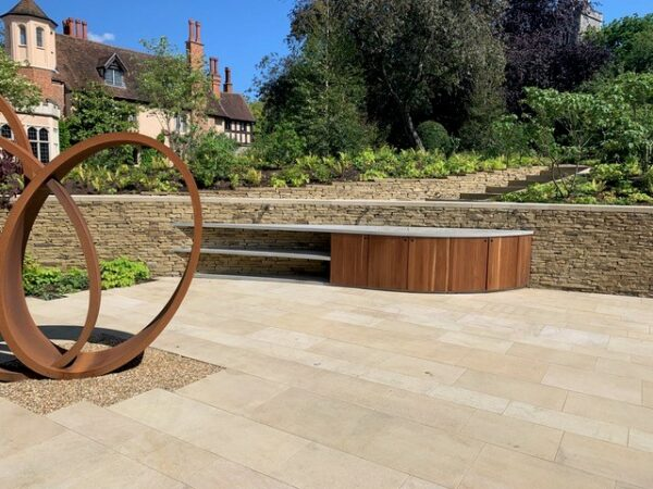 Individuelle Outdoor Küche Beton Holz Wimbledon London |dade design