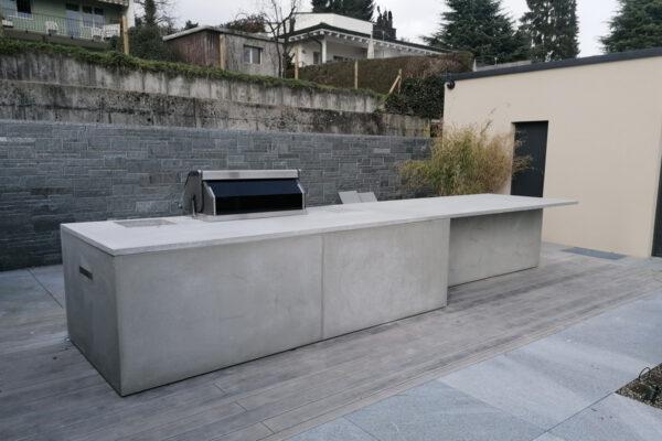Outdoor Küche Aussenküche Betonküche Projekt Zug | dade design