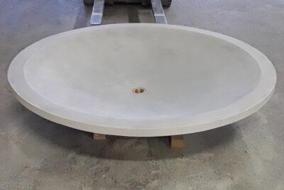 Betonbrunnen SUSANNA Brunnentrog rund aus Beton Premiumbrunne |dade design
