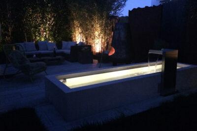 Betonbrunnen Technik Unterwasserleuchte | dade design