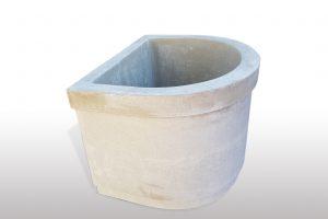 Betonbrunnen Premium halbrund